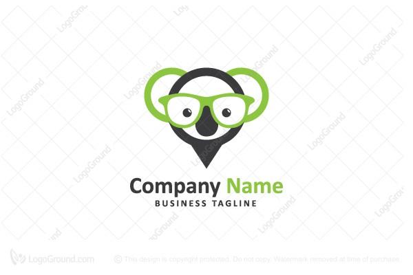 Map Of Australia Logo.Exclusive Logo 129248 Map Pin Koala Logo