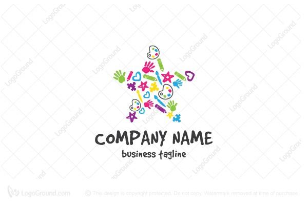 Children Arts Crafts Logo