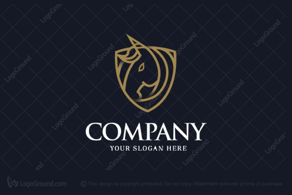 Logo for sale: Gold Unicorn Logo