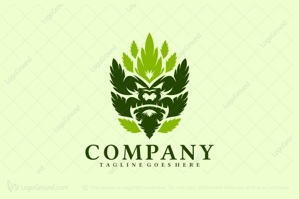 Logo for sale: Leaf Kong Logo