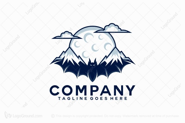 Logo for sale: Mountain Bat Logo