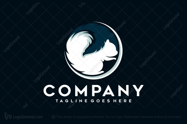 Logo for sale: Squirrel And Eagle Logo