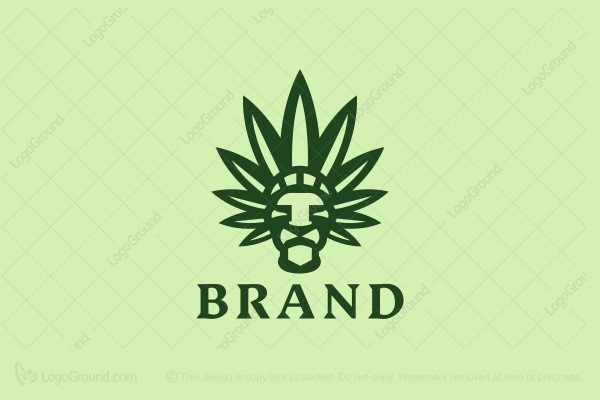 Logo for sale: Cannabis Lion Chief Logo