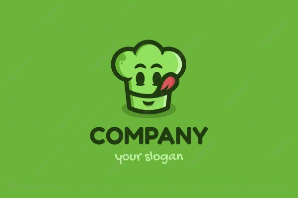 Logo for sale: Logo Character Chef Cap Logo