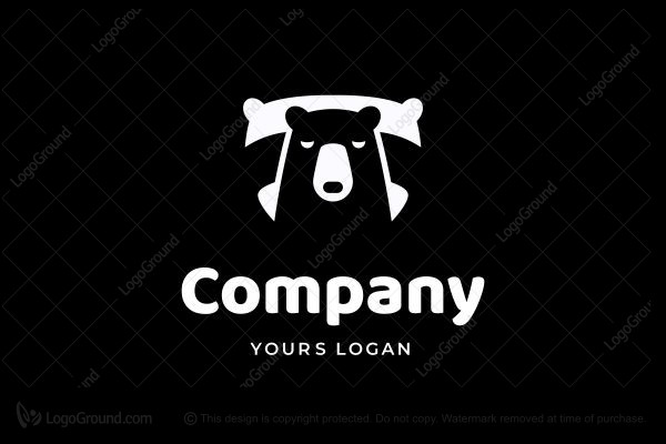 Logo for sale: Bear Pillow Logo