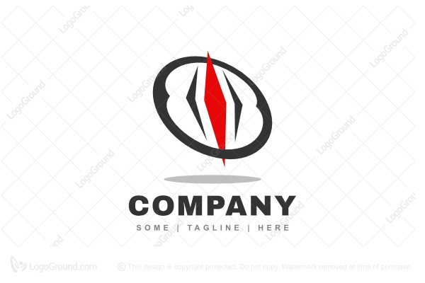 Logo for sale: Abstract Compass Logo