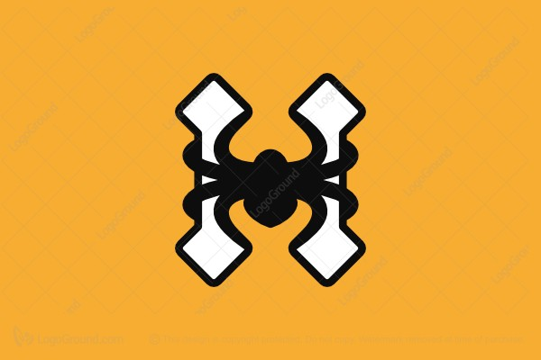 Logo for sale: Letter H Spider Logo