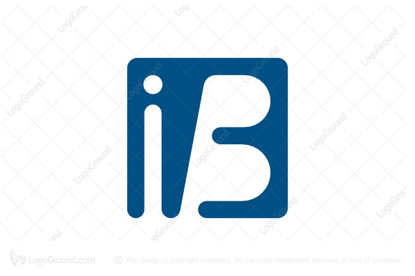 Logo for sale: Letter Ib Logo