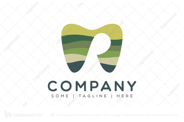 Logo for sale: Letter R Tooth Logo