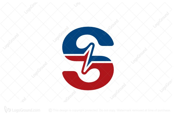 Logo for sale: Letter S Frequency Logo