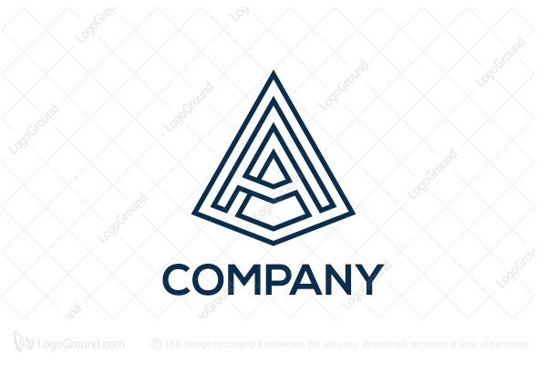 Logo for sale: Letter A Pyramid Logo