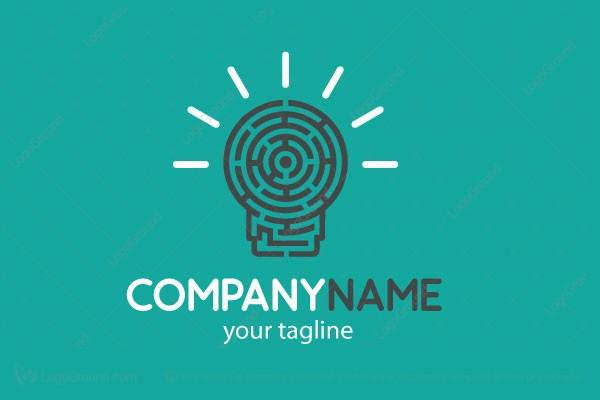 Exclusive Logo 135820, Bulb Maze Creative Logo