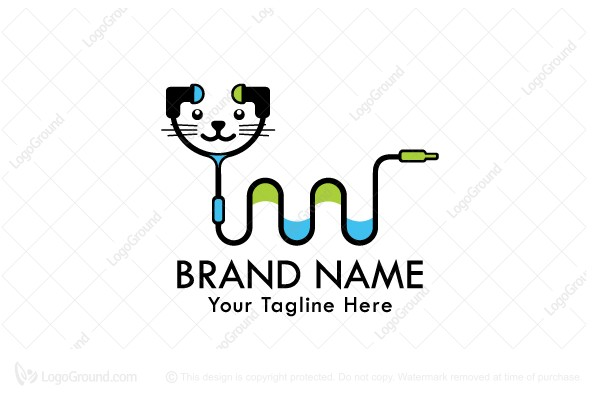 Logo for sale: Cat Earphones Logo