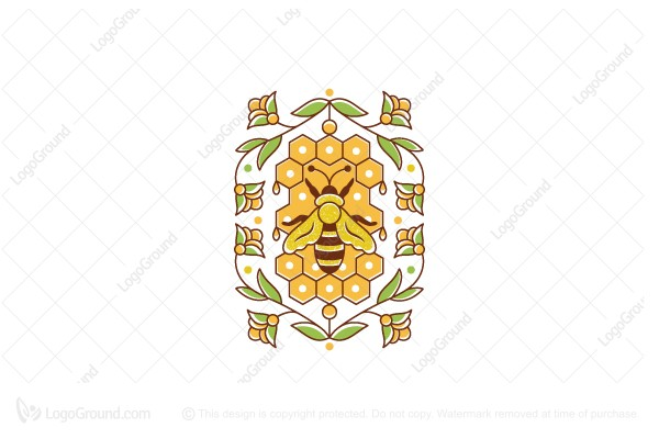 Logo for sale: Honey Bee Hive Logo