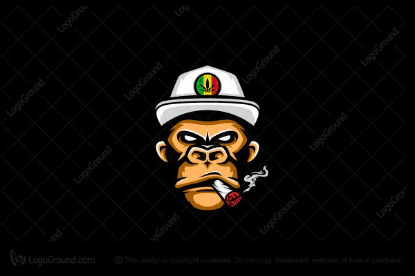 Logo for sale: Smoke Monkey Rasta Logo