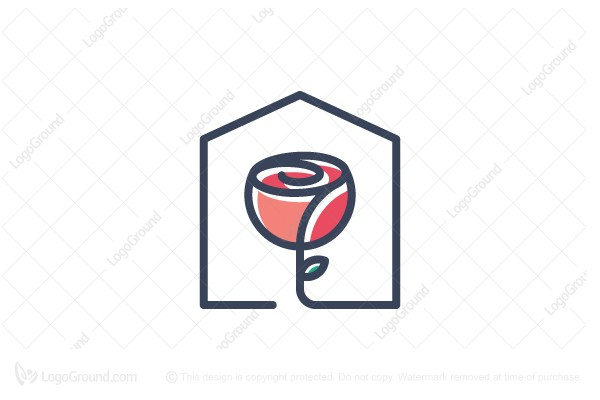 Admirable Exclusive Logo 162985 Rose House Logo Home Interior And Landscaping Pimpapssignezvosmurscom