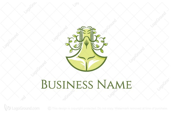 Logo for sale: Curly Man The Hermit Logo