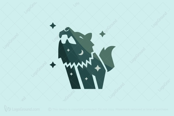 Logo for sale: The Howling Wolf Logo