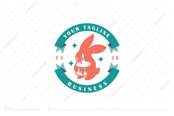 Logo for sale: Rabbit Party Logo