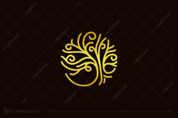 Logo for sale: Abstract Tree Logo