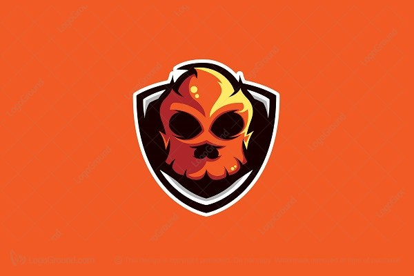 Logo for sale: Burning Skull Logo