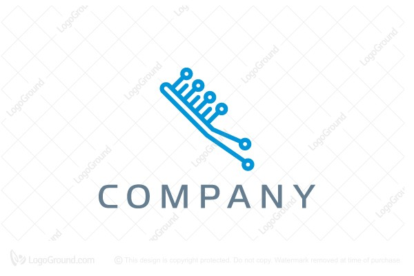 Logo for sale: Toothbrush Technology Logo