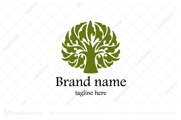 Logo for sale: Stylized Tree Logo