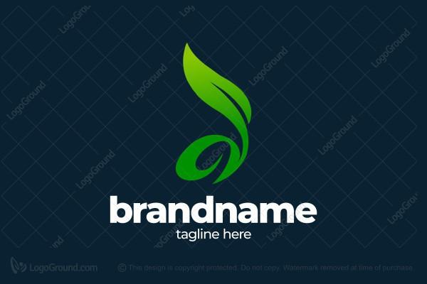 Exclusive Logo 165674, D Letter Natural Leaf Logo