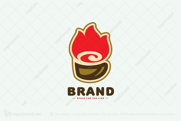 Logo for sale: Hot Coffee Logo