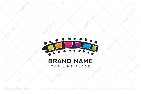 Logo for sale: Film Tape Vivid Logo