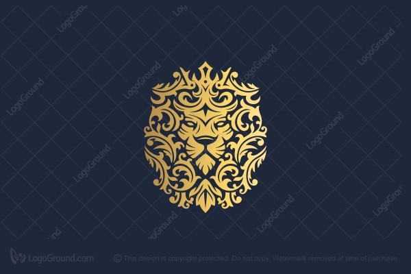 Exclusive Logo 143677, Crown Lion Crest Logo
