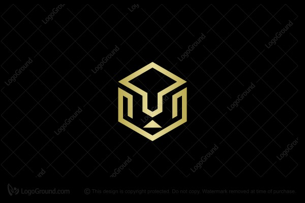 Logo for sale: Gold Lion Line Logo