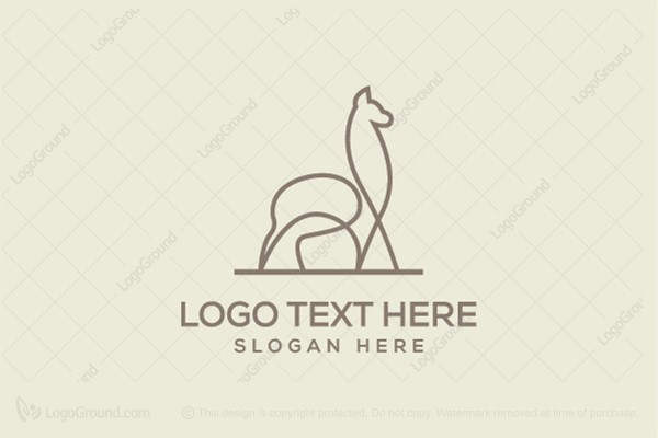 Logo for sale: Simple Alpaca Logo