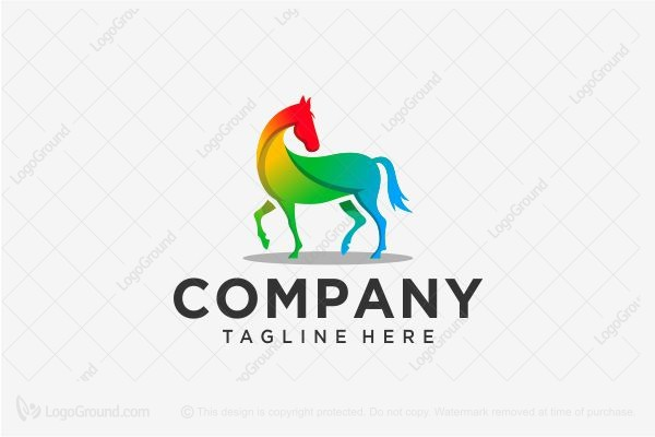 Logo for sale: Colorful Horse Logo