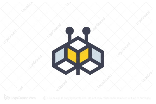 Logo for sale: Cube Bee Logo