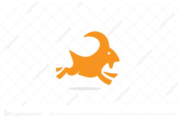 Logo for sale: The Jumping Goat Logo