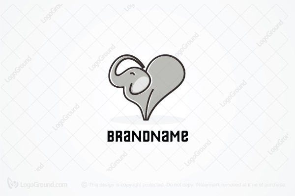 Logo for sale: Elephants Love Logo