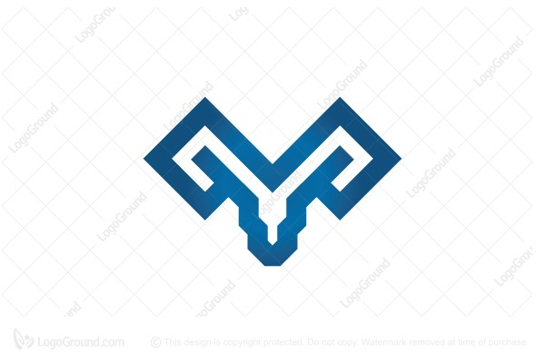 Logo for sale: Glyph Ram Head Logo