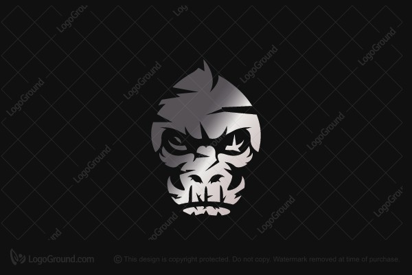 Logo for sale: Silver Gorilla Logo