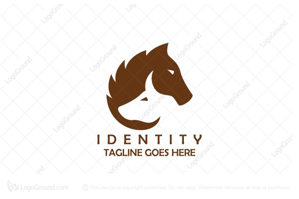 Logo for sale: Bull And Horse Logo