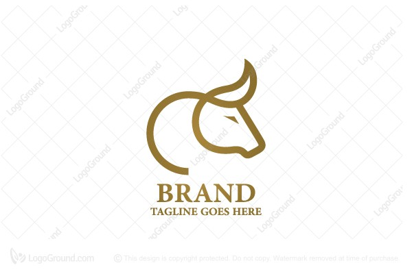 Logo for sale: Line Bull Logo
