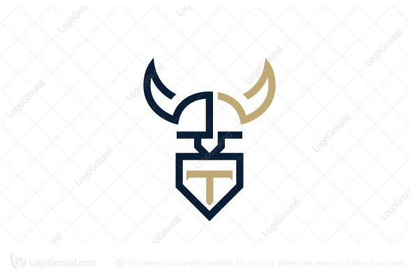 Logo for sale: Letter T Viking Logo