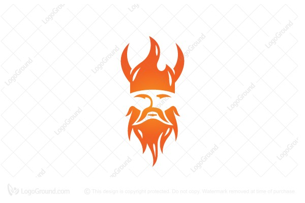 Logo for sale: Fire Viking Logo