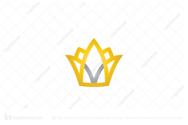 Logo for sale: Letter V Crown Logo