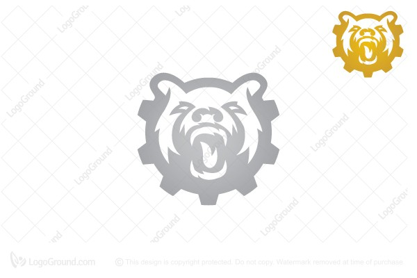 Logo for sale: Gear Bear Logo