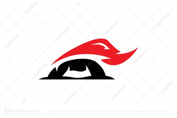 Logo for sale: Red And Black Rhino Logo