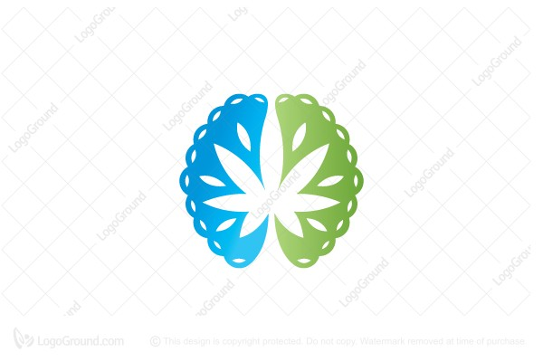 Logo for sale: Brain Cannabis Logo