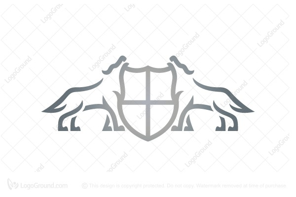Logo for sale: Wolf Shield Wolves Logo