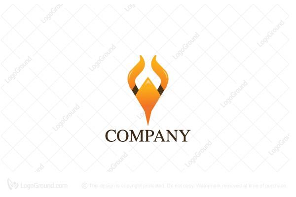 Exclusive Logo 123236, Bull Horn Logo