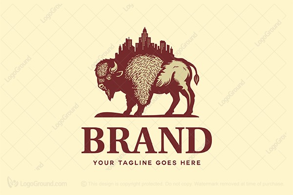 Logo for sale: Bison Estate Logo